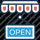 open signboard, open, open shop, shop sign, hanging sign