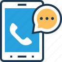 app, c, calling app, phone, receiver, talk icon