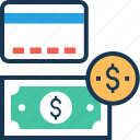 banking, banknote, cash, dollar, paper money icon