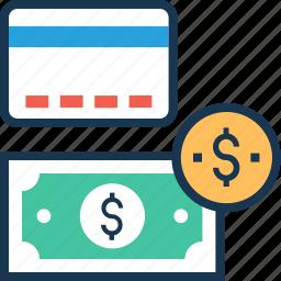banking, banknote, cash, dollar, paper money icon