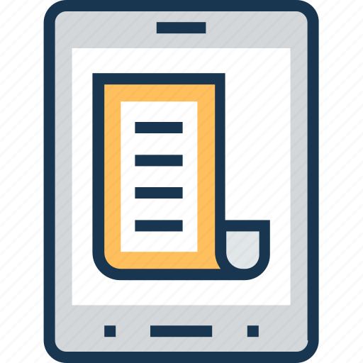 documents, list, mobile, online, paper icon
