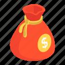 coin bag, coin pouch, finance sack, money bag, money sack icon