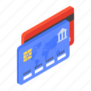 bank cards, atm cards, credit cards, debit cards, digital banking icon