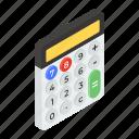 adding machine, calc, calculator, digital calculator, number cruncher icon
