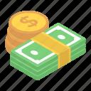 asset, banknote, finance, money, money stack, wealth icon