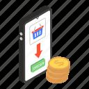 eshopping, internet shopping, mcommerce, mobile shopping, online shopping icon