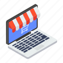 electronic shop, eshopping, online shop, online shopping, online store icon