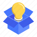 innovation, innovative product, new product, product idea, product launch icon