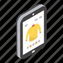 buy shirt, ecommerce, eshopping, mobile shopping, online shopping icon