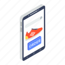 buy shoes online, mobile shopping, online order, online purchasing, online shopping icon