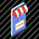 electronic shop, mobile shop, mobile store, online shop, shop open