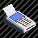 cash register, cash till, invoice machine, point of sale, pos icon