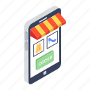 electronic shop, mobile shop, mobile store, online order, online shop