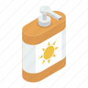 cosmetic products, skin care, skin lotion, sunblock, sunblock cream, sunscreen, sunscreen lotion icon