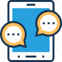 bubble, chat balloon, comments, message, mobile chat icon