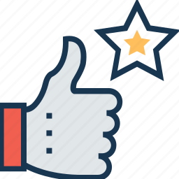 excellent, favorite, hand gesture, ok, thumbs up icon