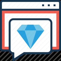 chat, gem, quality, seo, web quality icon