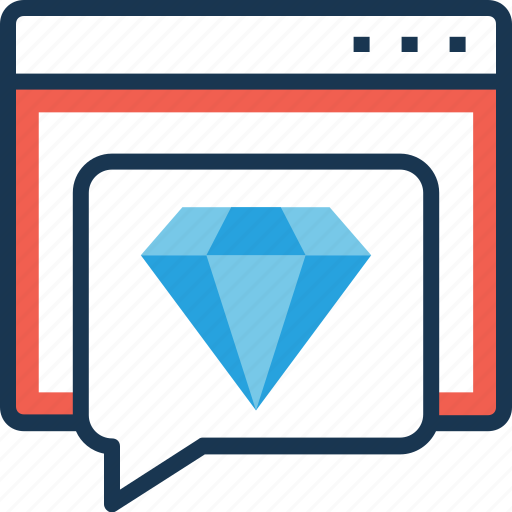 chat, gem, quality, seo, web quality icon