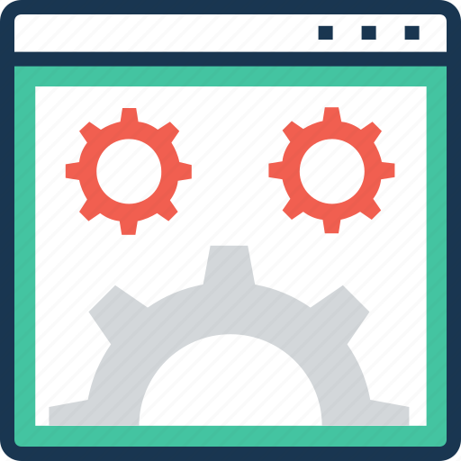 cog, web options, web page, web preferences, web setting icon
