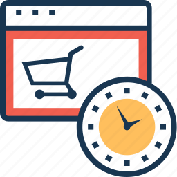 clock, online shopping, shopping, time, timer icon