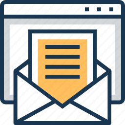 documents, email, letter, paper, web icon