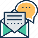 chat, email, envelope, letter, message icon