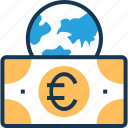 banknote, euro, european, shopping, worldwide icon