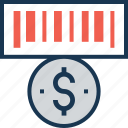 cash, coin, coin slot, currency, dollar icon