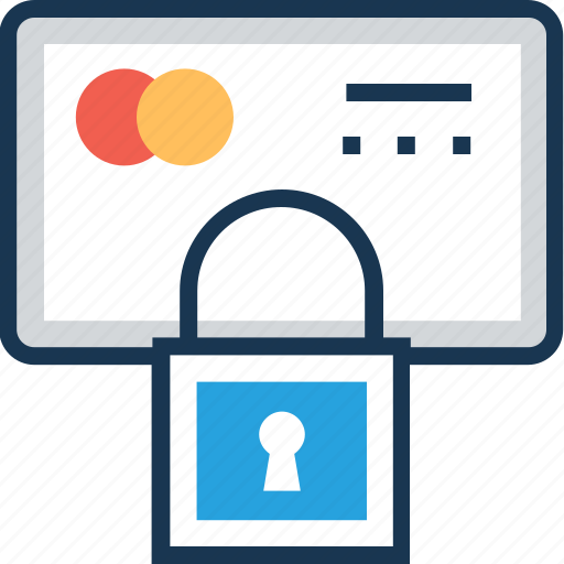 atm card security, atm pin, locked card, password protected, secure card icon