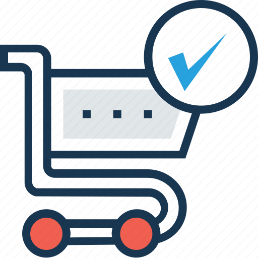add to cart, cart, ecommerce, shopping, tick icon
