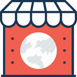earth, map, market, shop icon