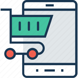 cart, m commerce, online, shopping, trolley icon