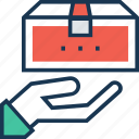 gift, gift box, present, present box, ship icon