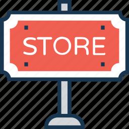 info, info board, sale board, shop, store icon