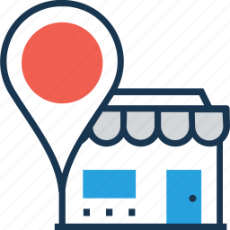 location, map locator, map pin, pin, store location icon