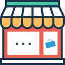 building, marketplace, online shopping, shop, store icon