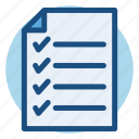 commerce, list, paper, shopping, shopping list icon