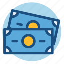 banknote, bill, commerce, dollar, money, paper money, shopping icon