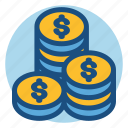 change, coin, commerce, loose change, money, shopping icon