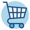 cart, commerce, empty, shopping, shopping cart icon