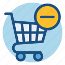 cart, commerce, delete, grocery, shopping, shopping cart icon
