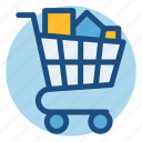 cart, commerce, full, grocery, shopping, shopping cart icon