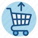cart, commerce, grocery, save, shopping, shopping cart, upload icon