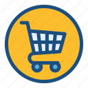 cart, commerce, grocery, shopping, shopping cart, sign icon