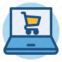 commerce, computer, laptop, online, online shopping, shopping icon