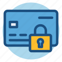 commerce, credit card, lock, payment security, security, shopping icon