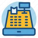bill, cash register, cashier, check out, commerce, payment, shopping icon