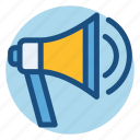 campaign, commerce, marketing campaign, megaphone, shopping icon