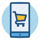 commerce, online, online shopping, phone, shopping, smartphone icon