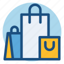 bags, commerce, gifts, presents, shopping, shopping bags icon